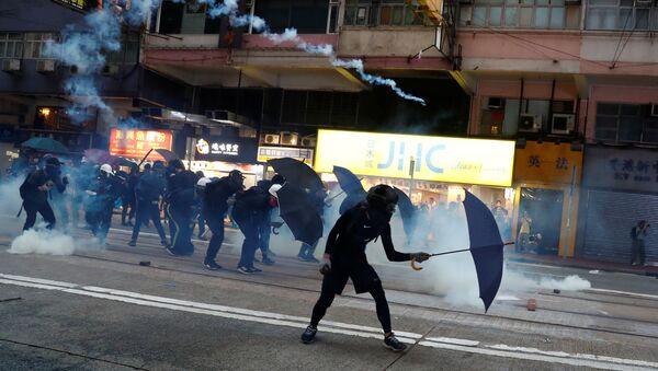 Protesty w Hongkongu. - Sputnik Polska