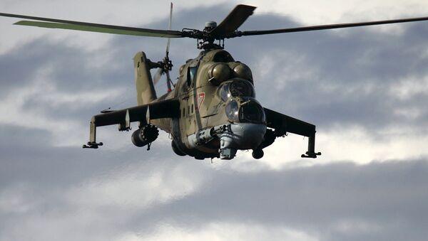 Ciężki śmigłowiec bojowy Mi-24 - Sputnik Polska