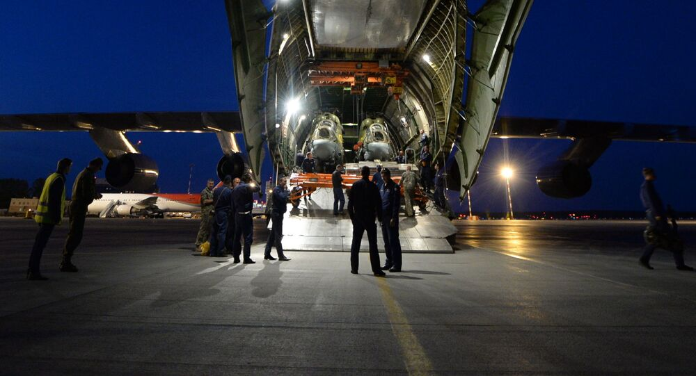 Czterosilnikowy, odrzutowy, strategiczny samolot transportowy An-124 Rusłan