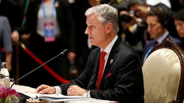 Doradca prezydenta Stanów Zjednoczonych ds. bezpieczeństwa narodowego Robert O'Brien na szczycie ASEAN-USA w Bangkoku - Sputnik Polska