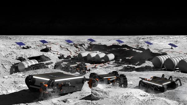 Artystyczna wizja nowej generacji robotów kosmicznych na Księżycu  - Sputnik Polska