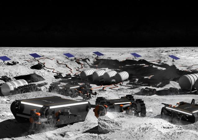 Artystyczna wizja nowej generacji robotów kosmicznych na Księżycu