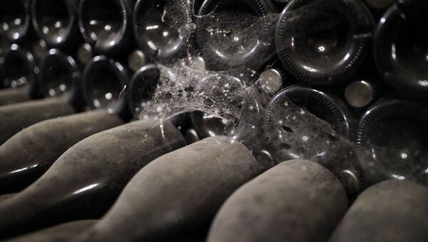 Zakurzone butelki z winem - Sputnik Polska