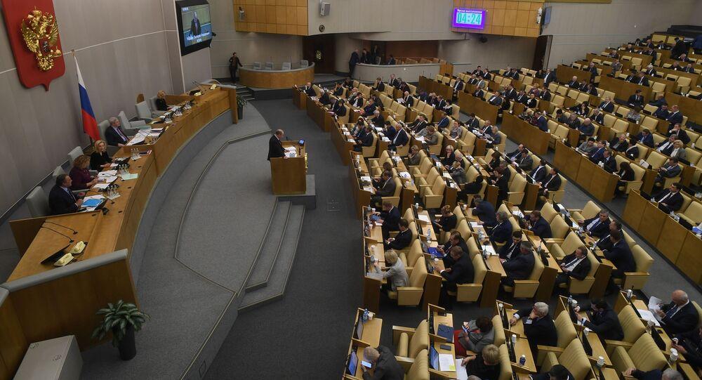 Posiedzenie Dumy Państwowej Rosji.