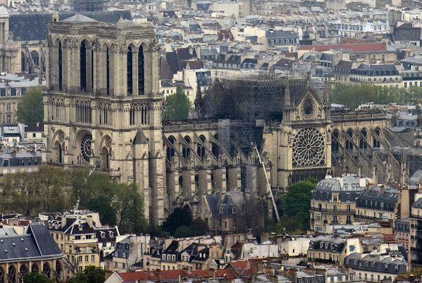 Konsekwencje pożaru katedry Notre-Dame w Paryżu  - Sputnik Polska
