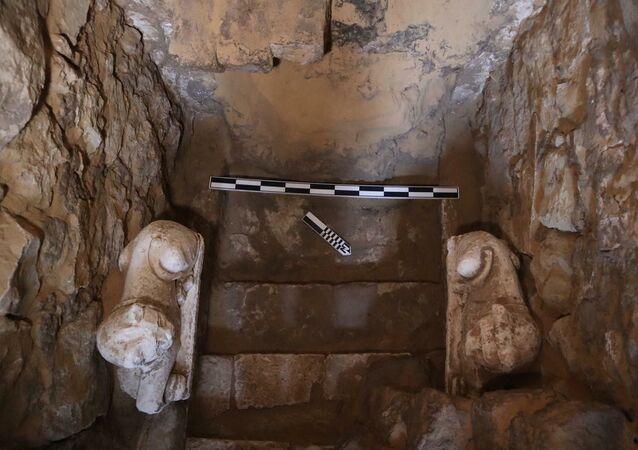 Katakumba z mumiami, odkryta w czasie wykopalisk w północnej części starożytnej nekropolii w Sakkarze