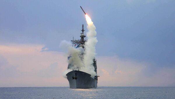 Start rakiety Tomahawk z okrętu wojennego USS Cape St. George - Sputnik Polska
