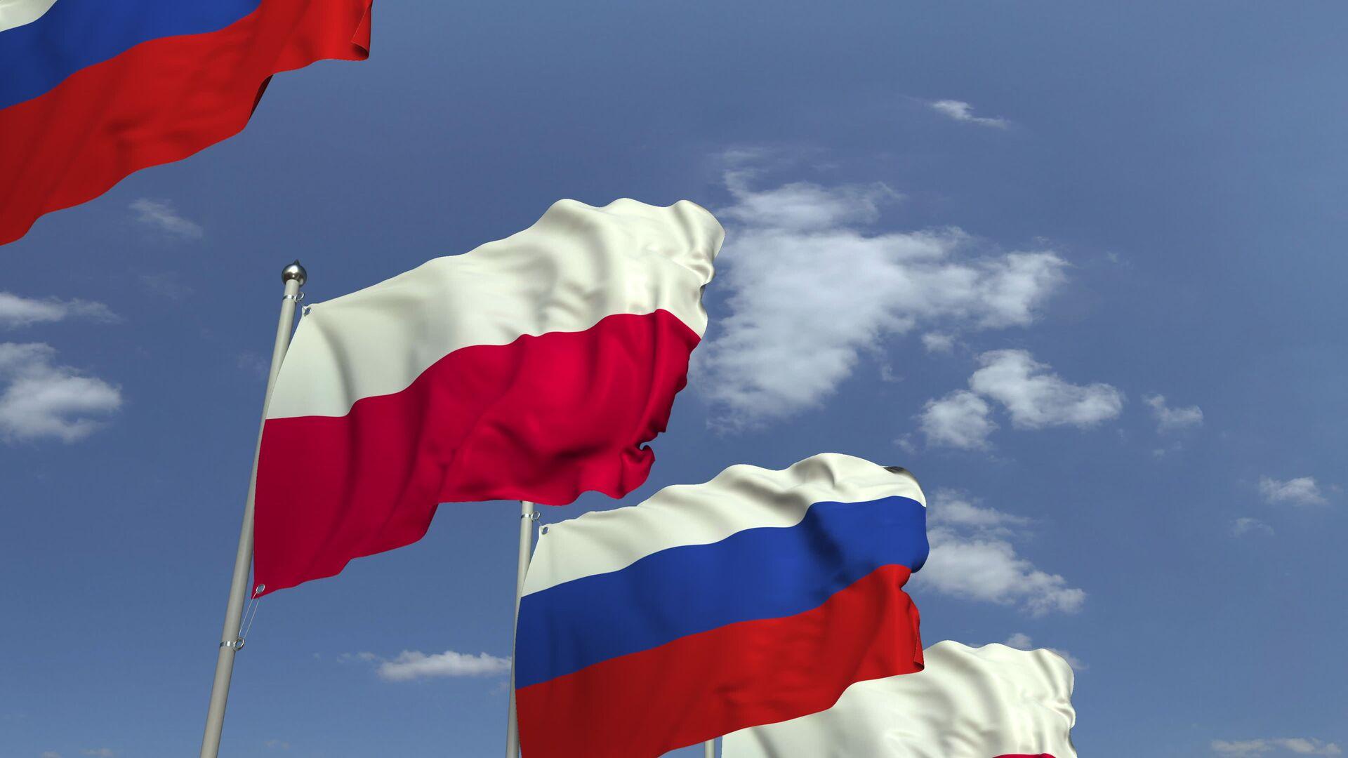 Flagi Rosji i Polski - Sputnik Polska, 1920, 27.05.2021