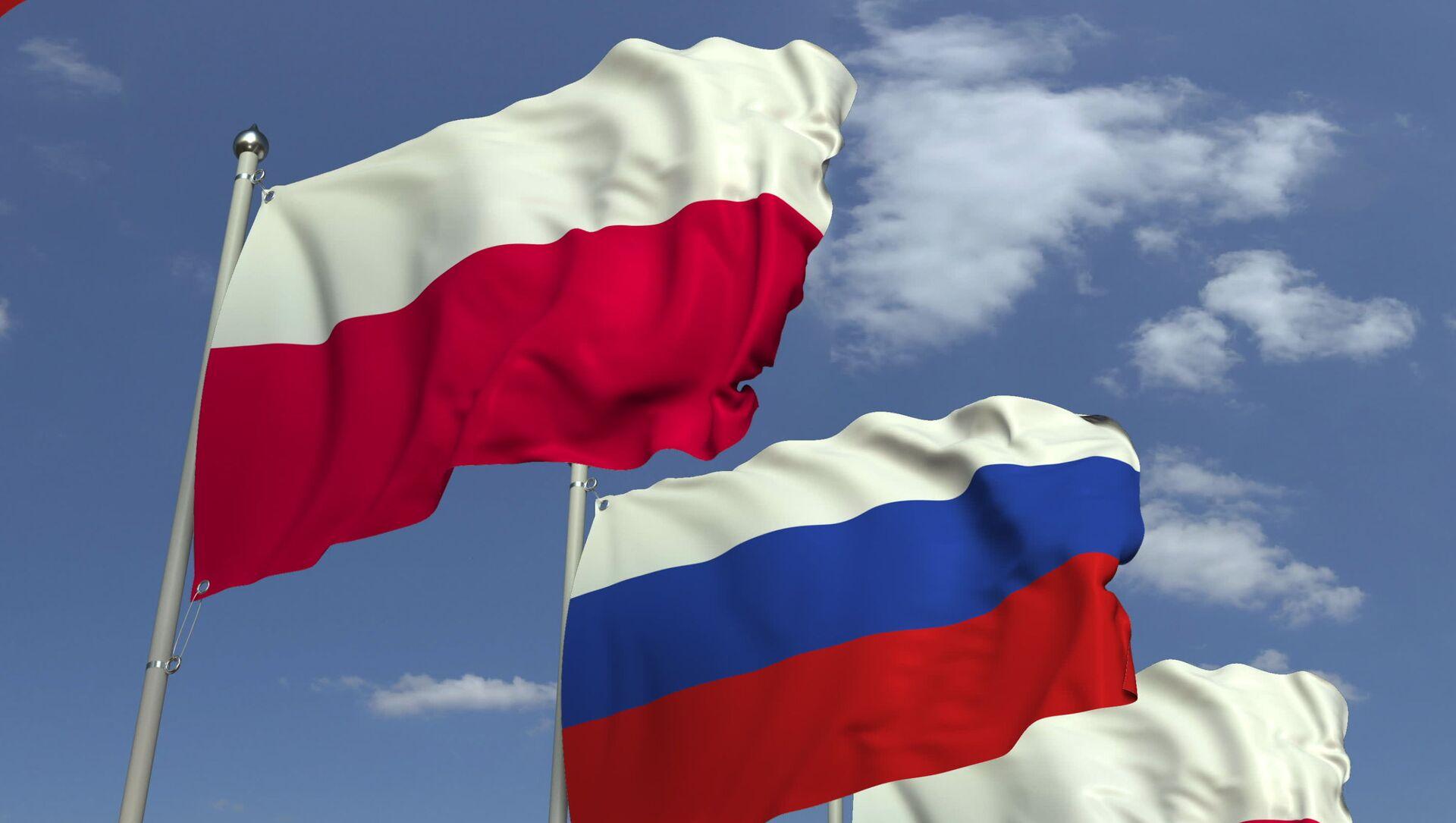 Flagi Rosji i Polski - Sputnik Polska, 1920, 24.03.2021