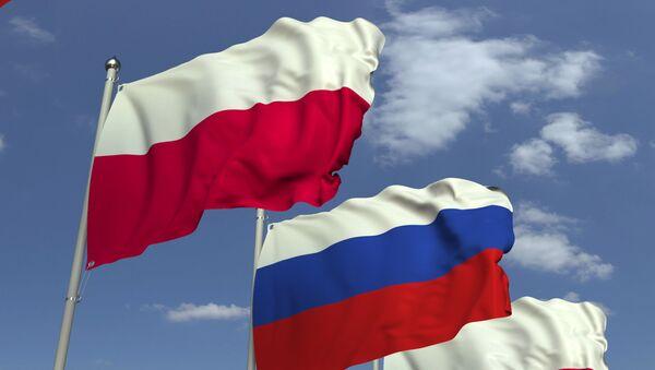 Flagi Rosji i Polski - Sputnik Polska