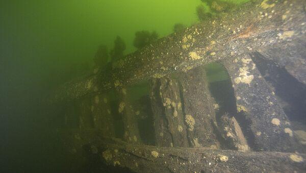 Wrak okrętu znalezionego u wybrzeży Szwecji. - Sputnik Polska