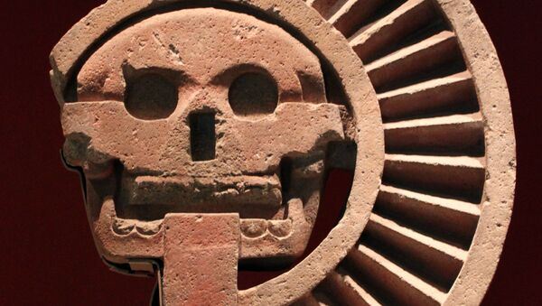 Aztecki bóg martwych Mictlantecuhtli - Sputnik Polska