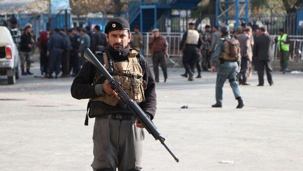 Policja w Kabulu, miejsce ataku terrorystycznego - Sputnik Polska