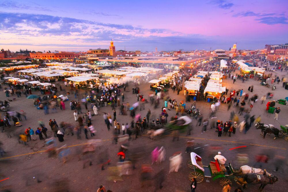 Teren targowy w Marrakeszu, Maroko