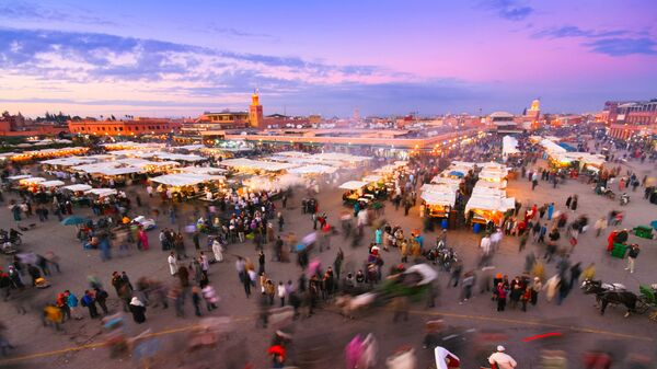 Teren targowy w Marrakeszu, Maroko  - Sputnik Polska