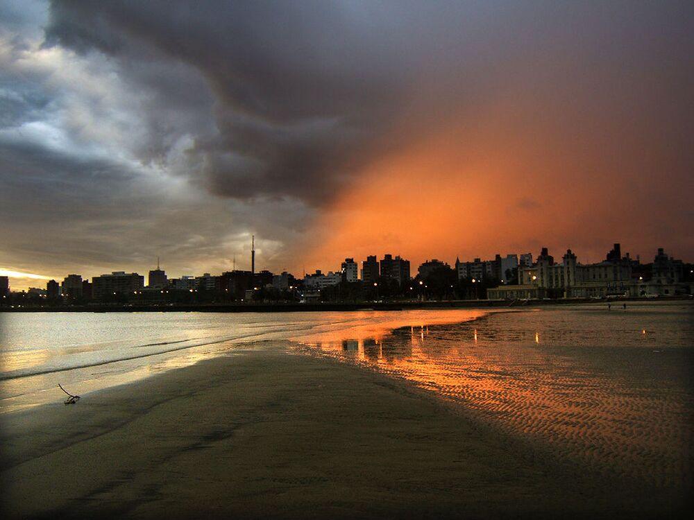 Zachód słońca w Urugwaju