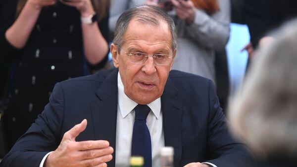 Министр иностранных дел РФ Сергей Лавровво время встречи в Москве - Sputnik Polska