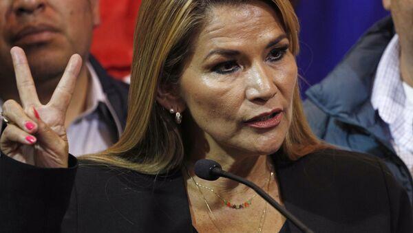 Senator opozycji Jeanine Anez w Boliwii - Sputnik Polska