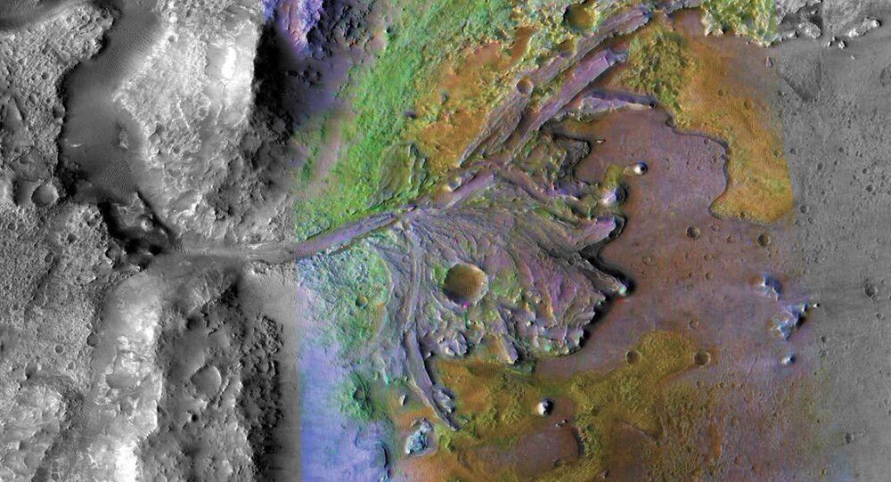 Krater Jezero na Marsie, w którym uczeni odkryli ślady wody w stanie ciekłym