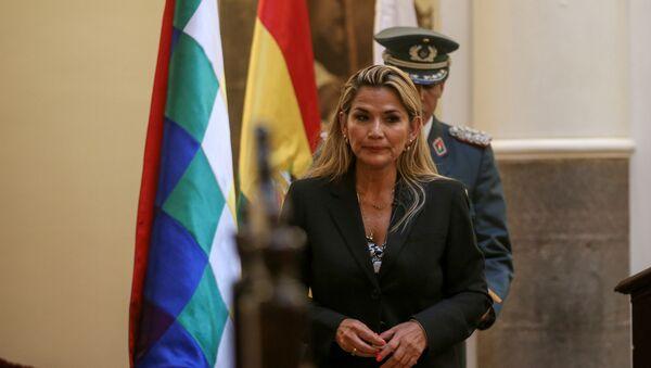 Tymczasowa prezydent Boliwii Jeanine Anez - Sputnik Polska