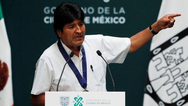 Evo Morales w Meksyku - Sputnik Polska