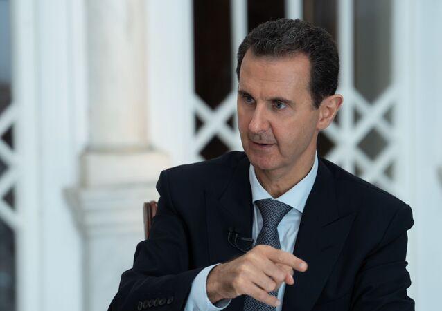 Prezydent Syrii Baszar Asad w czasie wywiadu