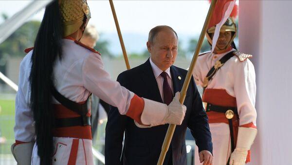 Prezydent Rosji Władimir Putin na szczycie BRICS w Brazylii - Sputnik Polska