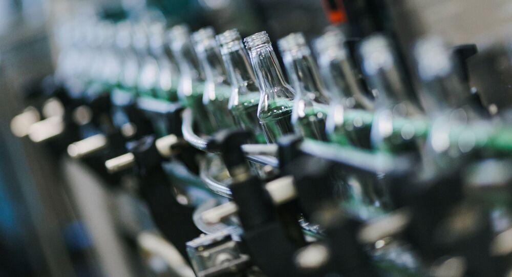 Rozlewnia wódki w mieście Szuja w obwodzie iwanowskim