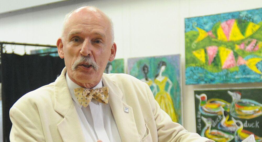Poseł na Sejm IX kadencji Janusz Korwin-Mikke