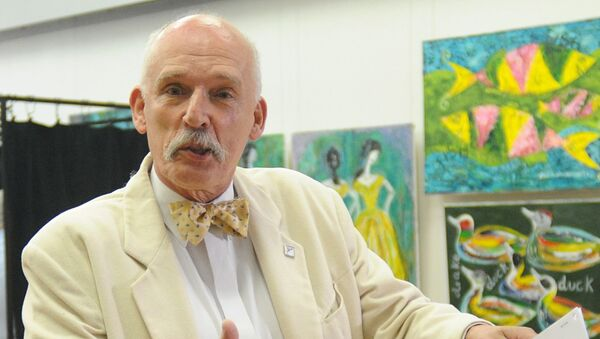 Poseł na Sejm IX kadencji Janusz Korwin-Mikke - Sputnik Polska