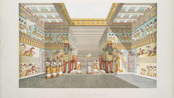 Wizerunek asyryjskiej sali pałacowej  - Sputnik Polska