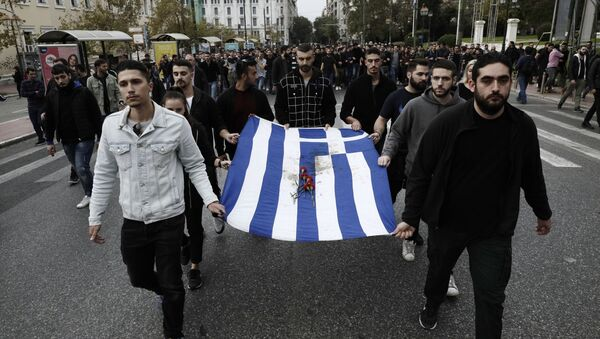 Protest w Atenach - Sputnik Polska