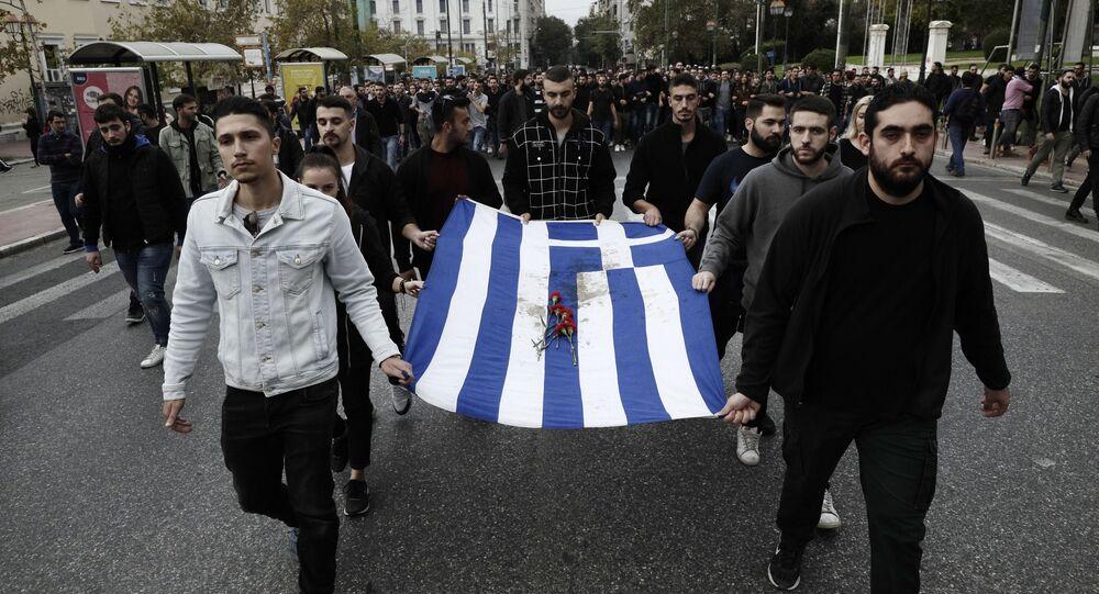 Protest w Atenach