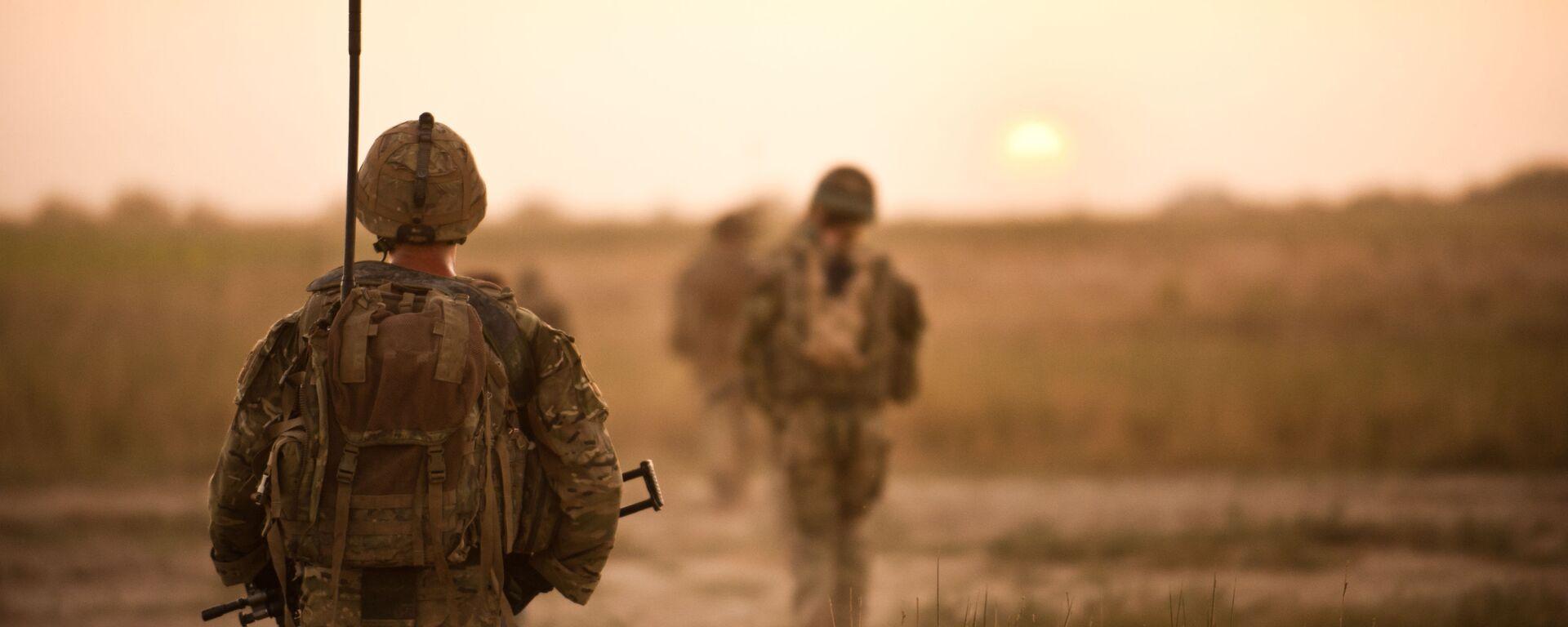 Brytyjscy żołnierze na patrolu w Afganistanie - Sputnik Polska, 1920, 02.07.2021