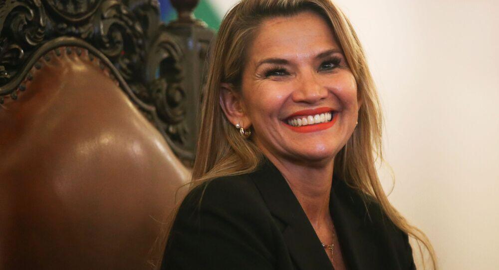 Tymczasowa prezydent Boliwii Jeanine Anez