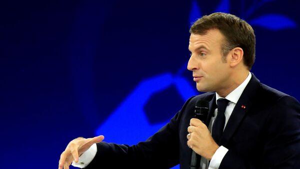 Prezydent Francji E.Macron - Sputnik Polska
