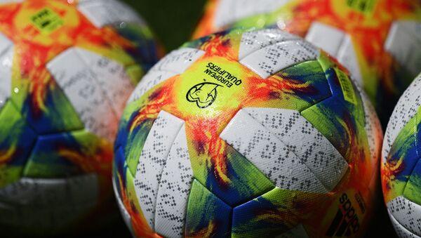 Piłki dla meczy eliminacyjnych mistrzostw Europy w piłce nożnej 2020  - Sputnik Polska