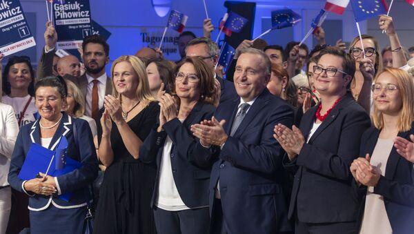 Politycy Koalicji Obywatelskiej, Małgorzata Kidawa-Błońska, Grzegorz Schetyna, Katarzyna Lubnauer, Barbara Nowacka - Sputnik Polska