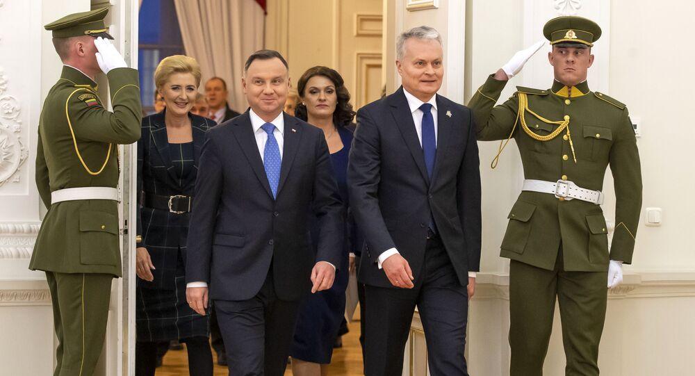 Prezydent Polski Andrzej Duda i prezydent Litwy Gintanas Nauseda