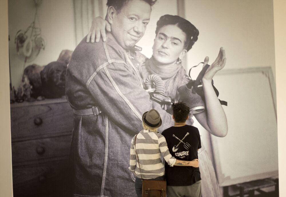 Frida i Diego w 1938 roku