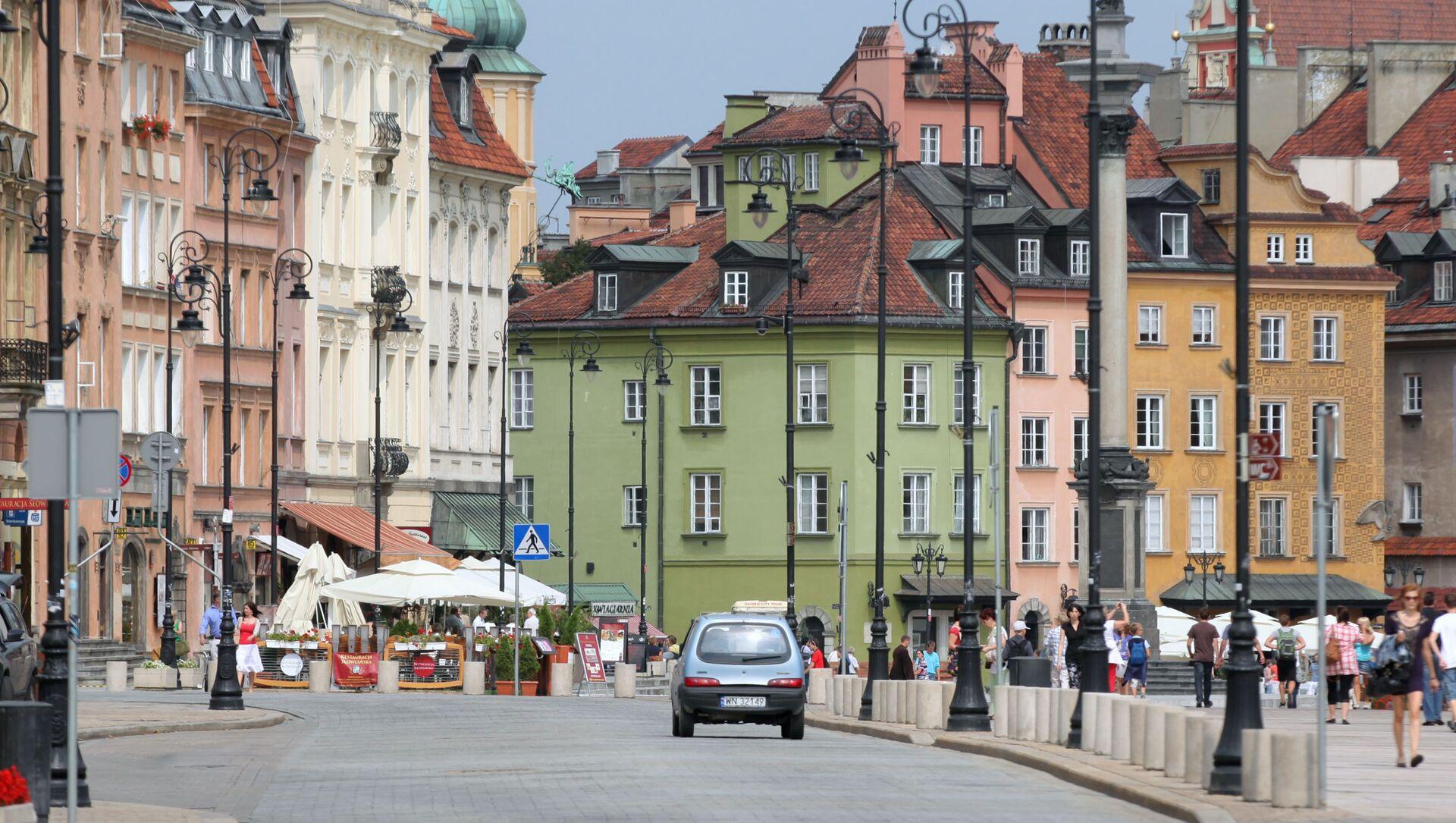 Ulica Krakowskie Przedmieście w centrum Warszawy - Sputnik Polska, 1920, 09.02.2021