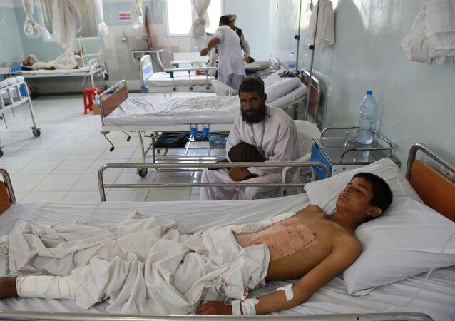 Szpital organizacji międzynarodowej Lekarze bez Granic w Kunduzie na północy Afganistanu