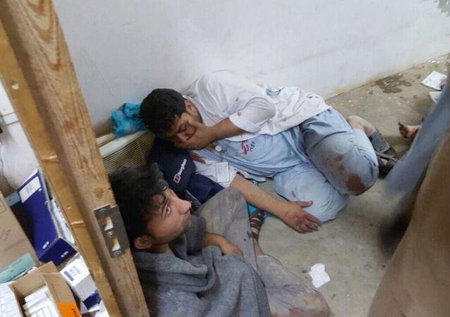 Szpital Lekarzy bez Granic w Kunduzie po zbombardowaniu