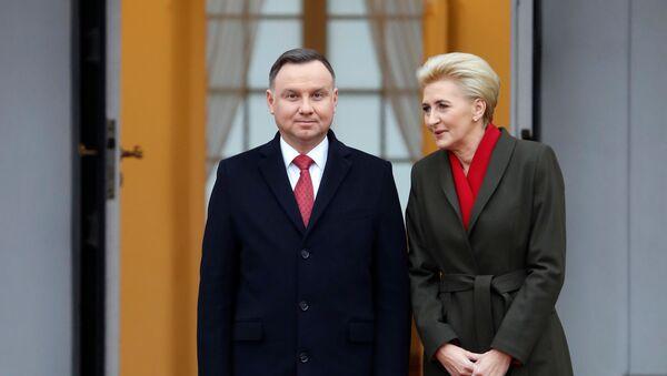 Prezydent Polski Andrzej Duda z żoną - Sputnik Polska