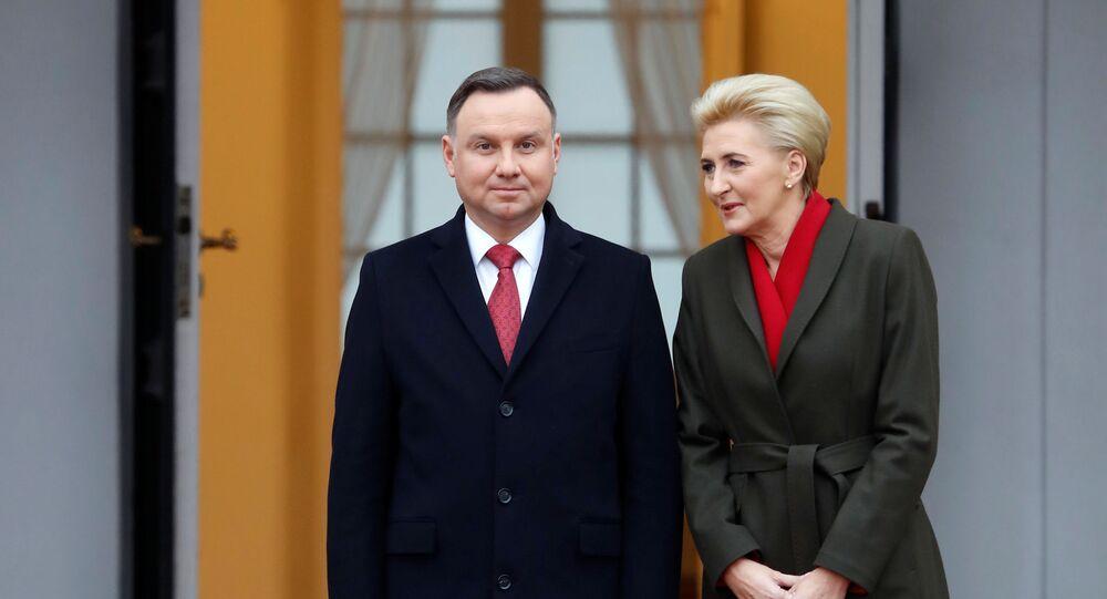 Prezydent Polski Andrzej Duda z żoną