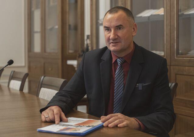 """Przewodniczący stowarzyszenia """"Kursk"""" Jerzy Tyc"""