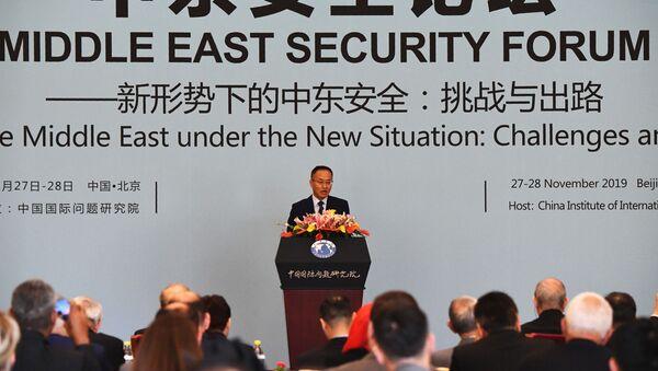 Doradca ministra spraw zagranicznych Chin Chen Xiaodong podczas otwarcia Bliskowschodniego Forum Bezpieczeństwa w Pekinie - Sputnik Polska