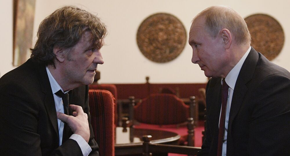 Emir Kusturica i Władimir Putin