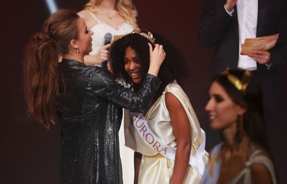 Uczestniczka finału międzynarodowego konkursu Miss Fashion 2019 GODDESS OF THE UNIVERSE w Moskwie