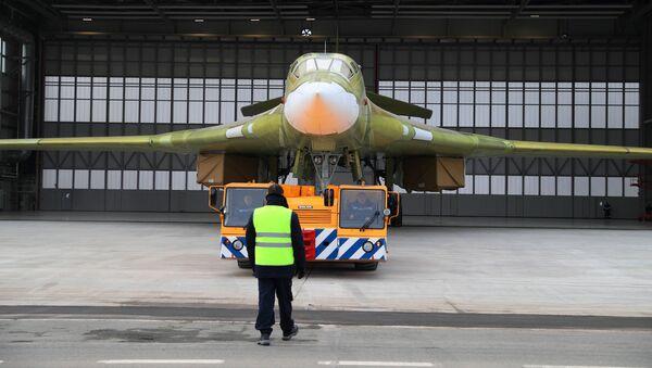 Prototyp samolotu Tu-160M2 w Kazańskim Zakładzie Lotniczym im. S.P. Gorbunowa - Sputnik Polska